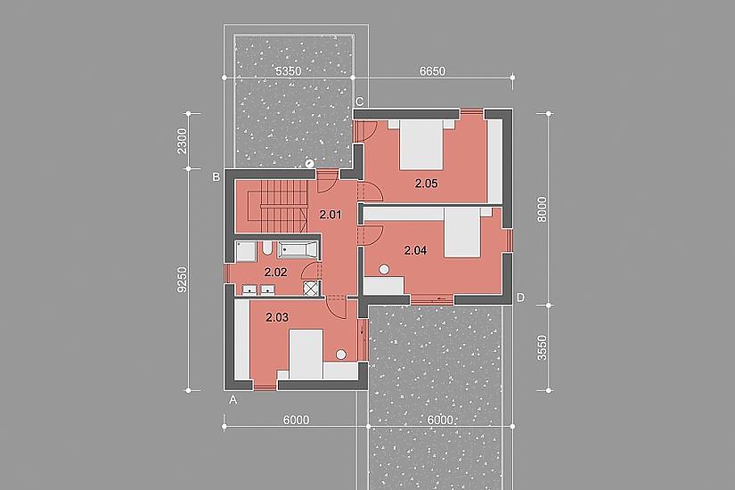 Projekt rodinného domu Zigzag obr.855