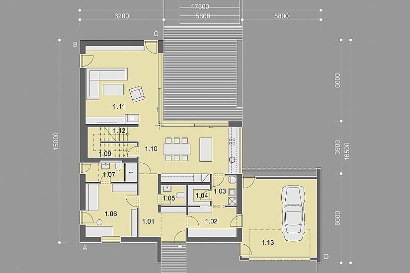 Projekt rodinného domu Miracle obr.848