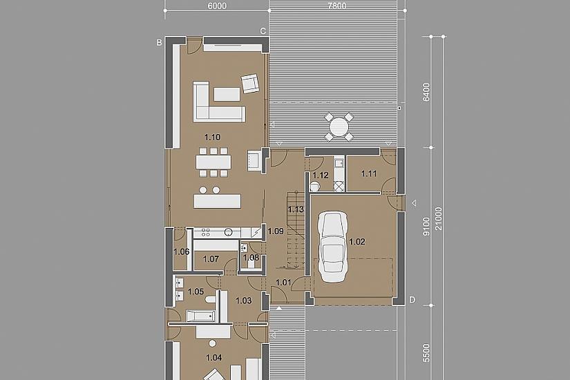 Projekt rodinného domu Dream obr.839