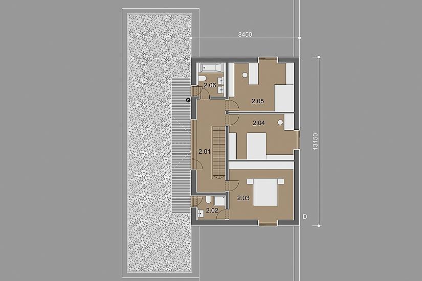 Projekt rodinného domu Dream obr.840