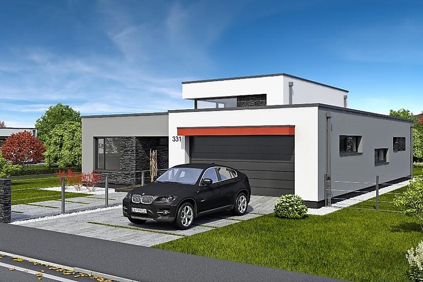 Projekt rodinného domu Linear 331 obr.612