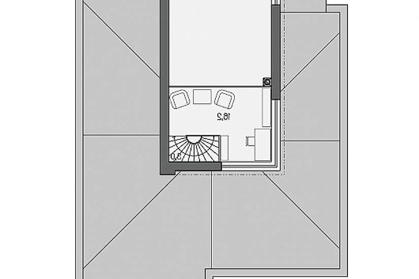 Projekt rodinného domu Linear 331 obr.620