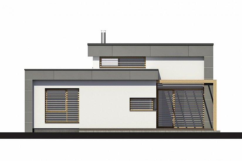 Projekt bungalovu Linear 315 obr.963
