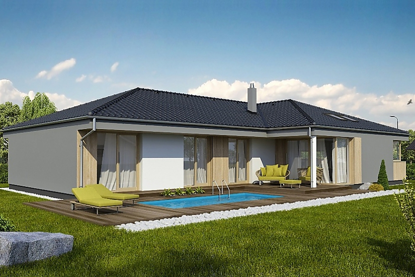 Projekt bungalovu Laguna 442 obr.633