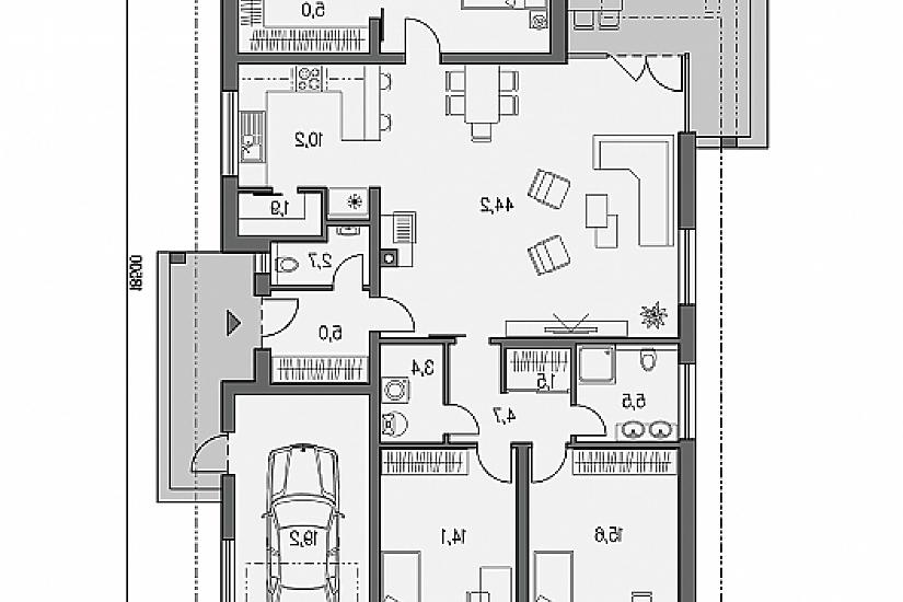 Projekt bungalovu Laguna 433 obr.665