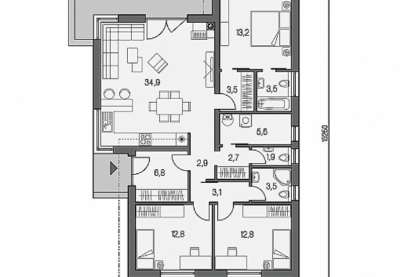 Projekt bungalovu Laguna 435 obr.674