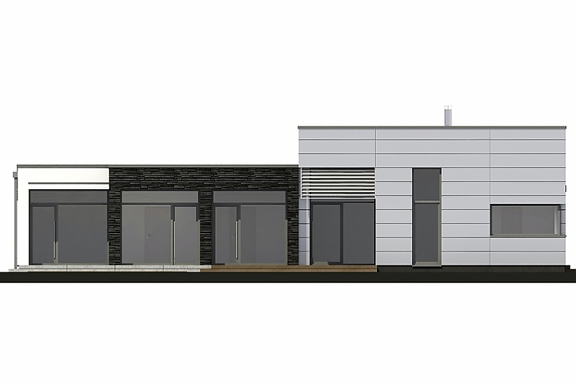 Projekt bungalovu Linear 326 obr.738