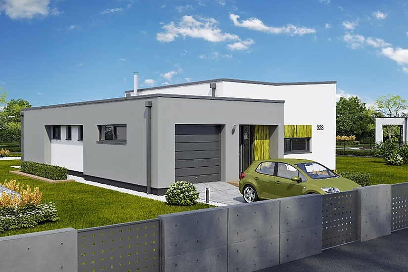 Projekt bungalovu Linear 328 obr.739