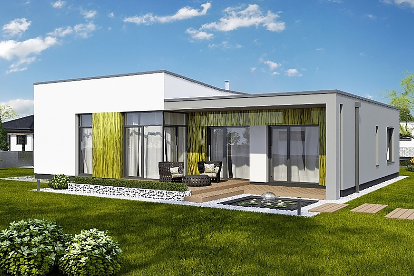 Projekt bungalovu Linear 328 obr.742