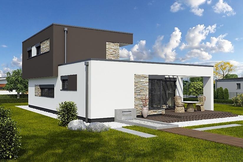 Projekt rodinného domu Linear 329 obr.750