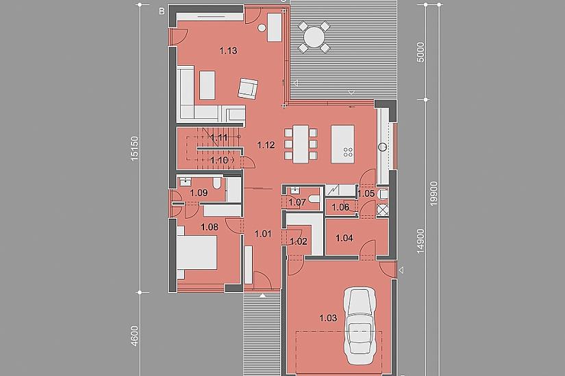 Projekt rodinného domu Master obr.896